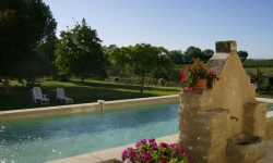 La fontaine et la piscine